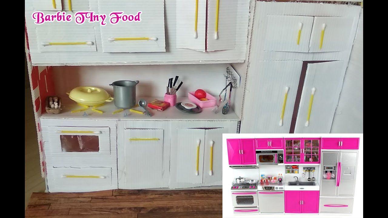 How To Make Miniature Kitchen Diy Dollhouse Barbie Set Pretend Play