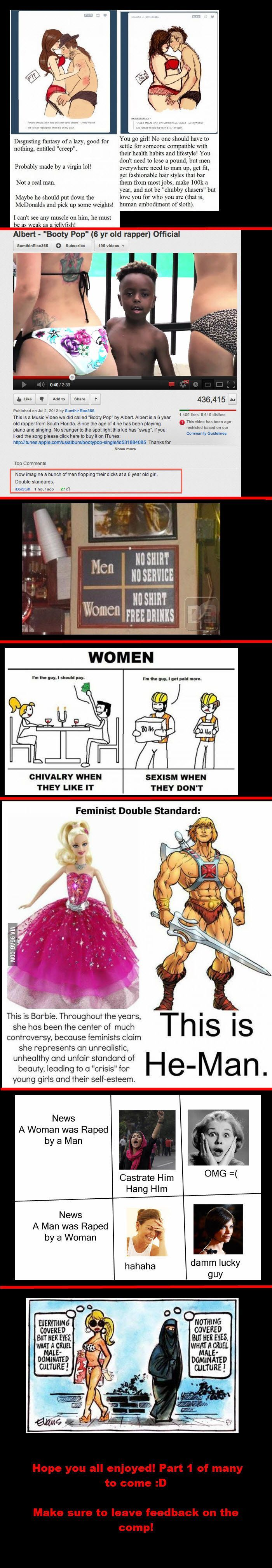 This is why i consider myself to be more of equalist than a feminist. Feminism was made to be about true equality not to make women more important than men