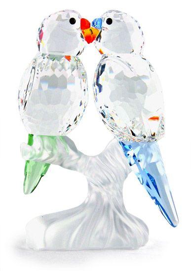 767460c59 Swarovski Silver Crystal Budgies Figurine in 2019 | Bling ...
