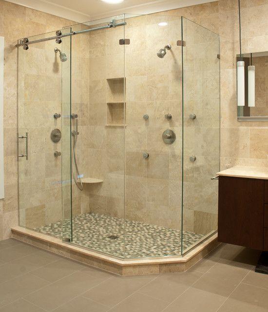 Badezimmer Dusche Türen Badezimmermöbel dekoideen