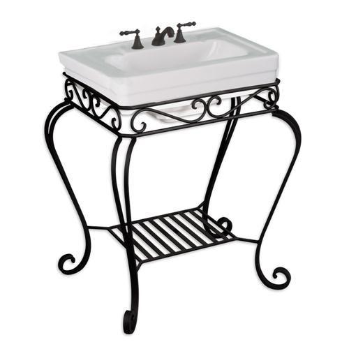 Wrought iron sink stand bathroom ideas pinterest wrought iron iron and wrought iron decor for Wrought iron bathroom furniture