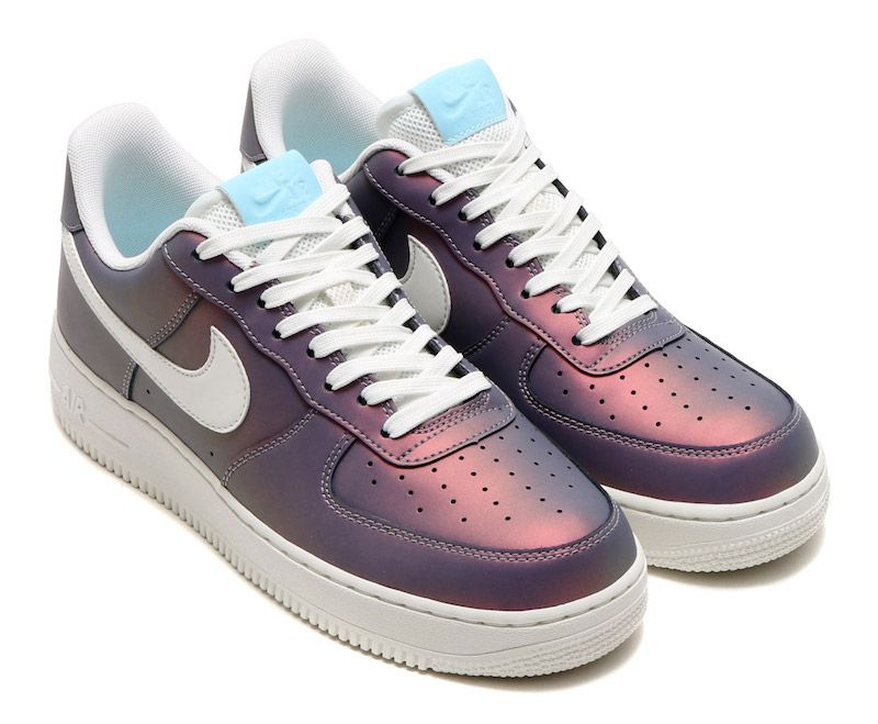 A look at the Nike Air Force 1 Iridescent Pack that includes three colorful  options of