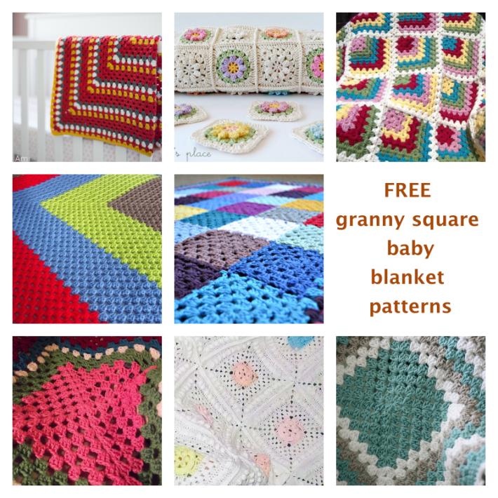 Free Granny Square Baby Blanket Patterns - Craftsy | Granny squares ...
