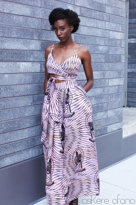 28e77fa77 THE LEILA Maxi Skirt in Pink by AsikereAfana on Etsy | African ...