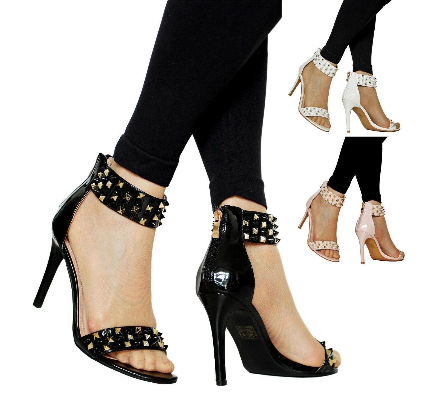 WOMENS LADIES SPOT ON CASUAL PARTY HEELS PUMPS COURT SHOES F9677