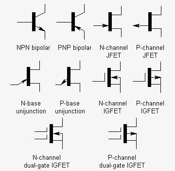 Different Types of Transistor Symbols electr---id Pinterest - component engineer sample resume