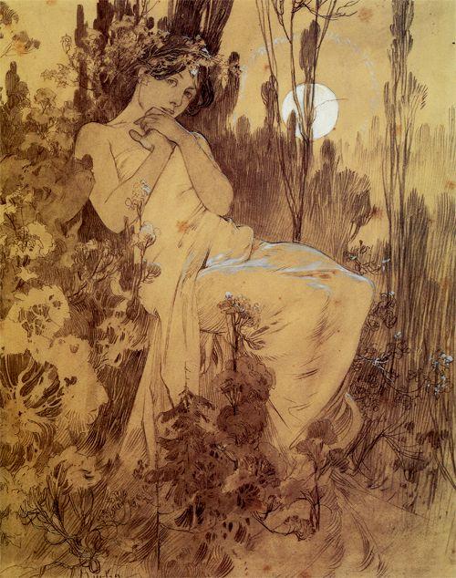 by alphonse mucha 1899 art nouveau pinterest kunst jugendstil malerei und jugendstil. Black Bedroom Furniture Sets. Home Design Ideas