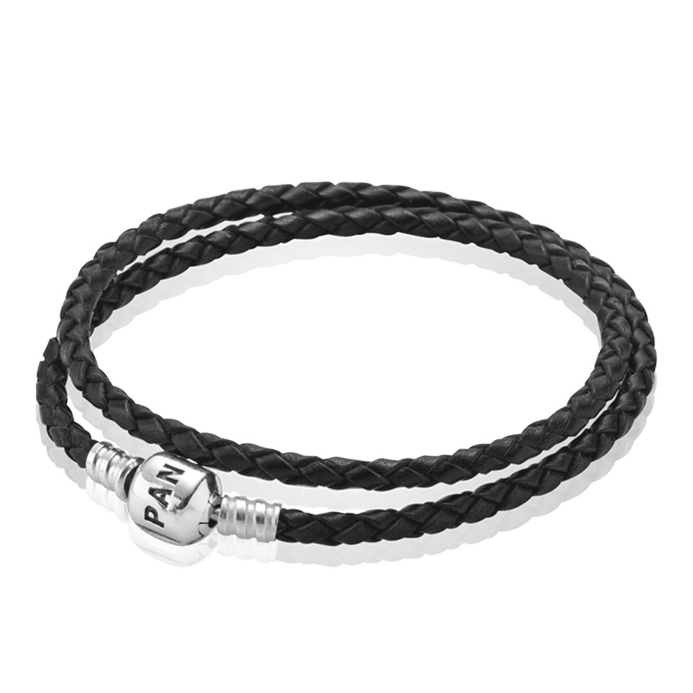 Bracelets Bracelets For Women Pandora Us Pandora Leather Braided Leather Bracelet Black Leather Bracelet