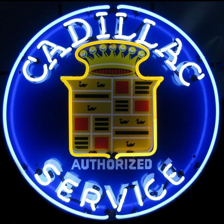 Vintage Replica Tin Metal Sign Cadillac Service authorized GM chevy cadilac car