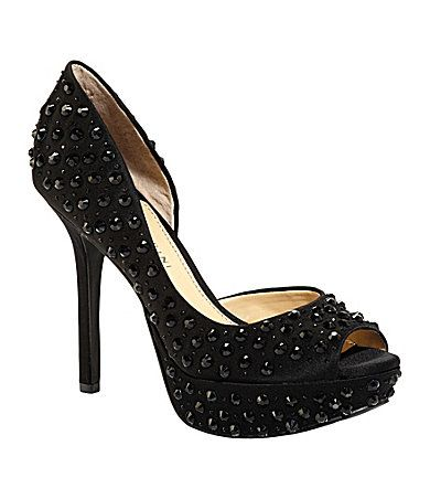a0106ccb0 The reviews said these heels were comfy...Gianni Bini Larissa Peep-Toe  Platform Pumps