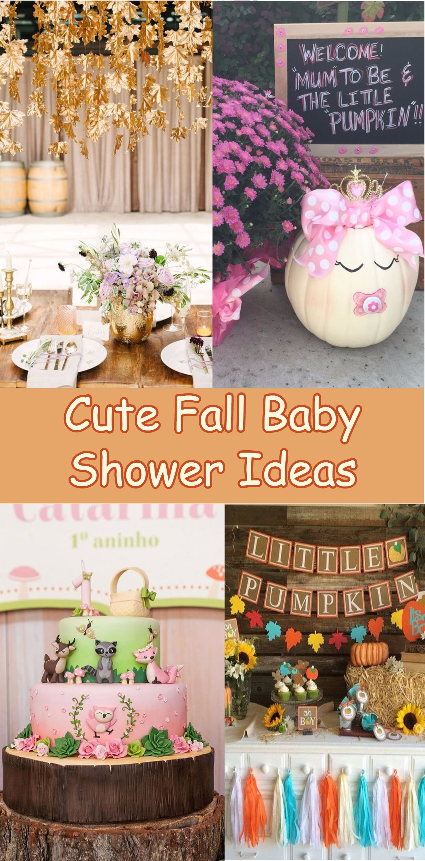 Cute Fall Baby Shower Ideas Baby Shower Fall Baby Shower