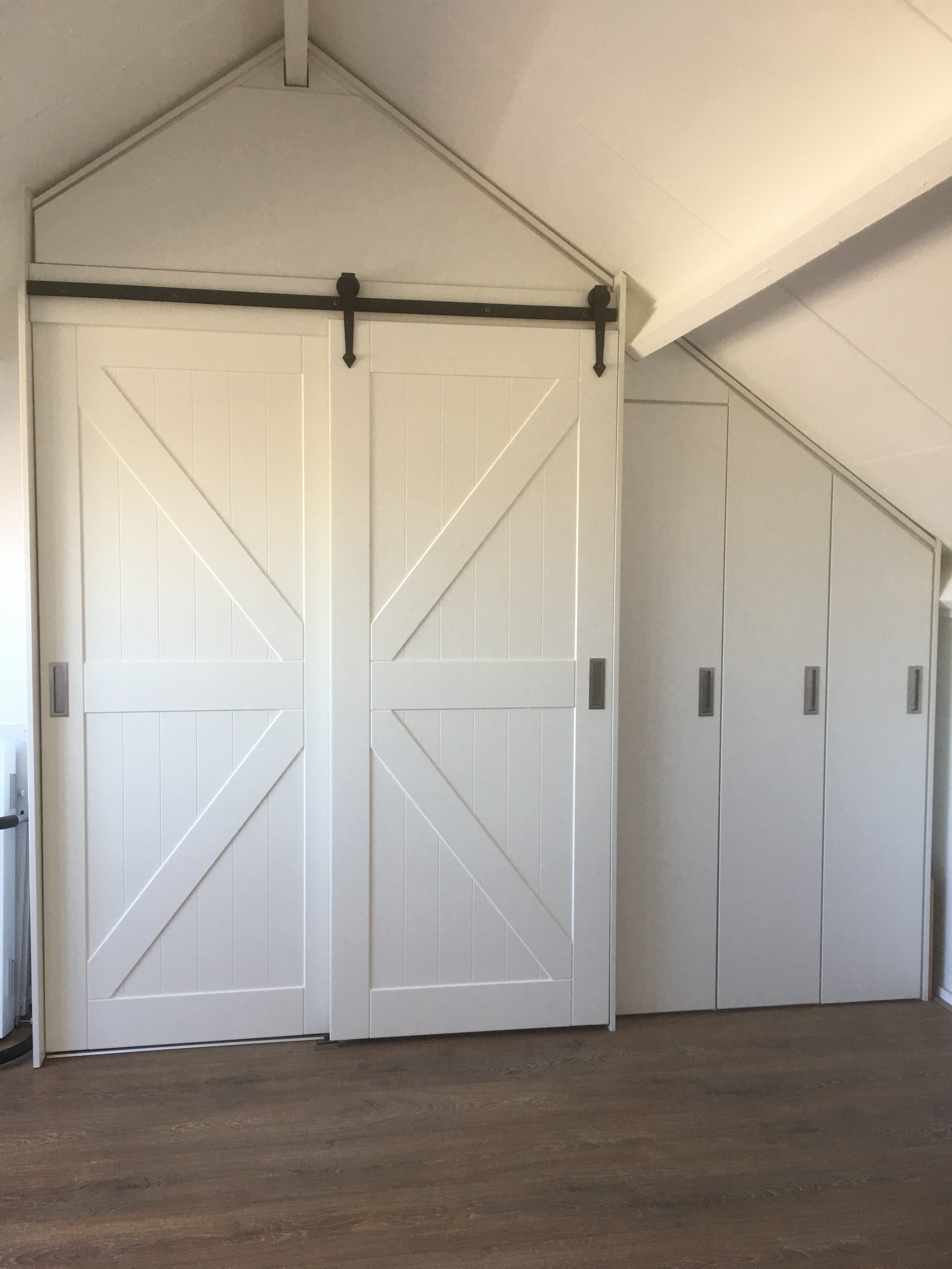 Barn schuifdeuren deur landelijk boerderij wit zwart