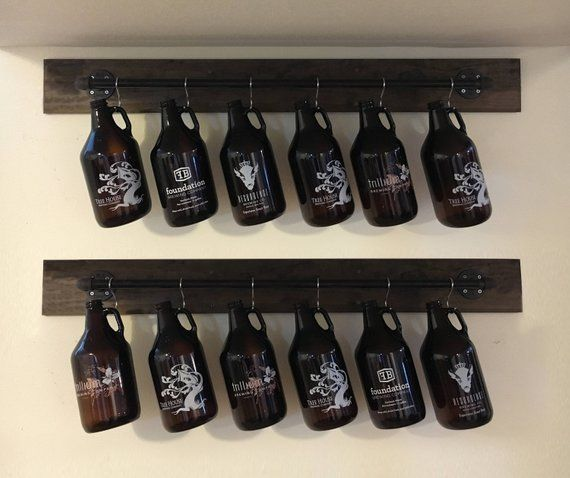 Growler Rack Display, Storage and Organization – Perfect Gift for Craft Beer Lovers, Birthdays, Housewarming Gift!! (Growlers NOT Included) -   19 crafts beer growler ideas