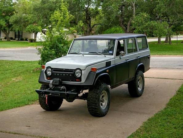 This 1974 Toyota Land Cruiser Has Had Its Factory Gas Inline Six Swapped  For An Unspecified
