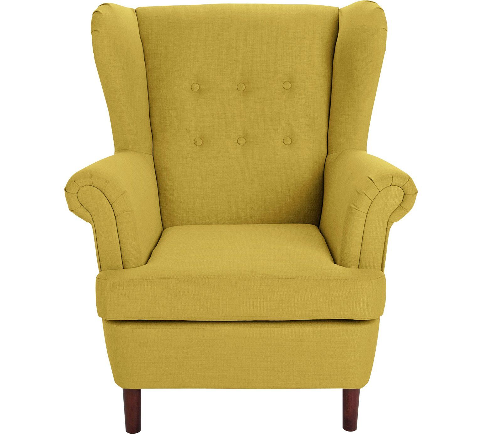 Buy collection martha fabric wingback chair yellow at