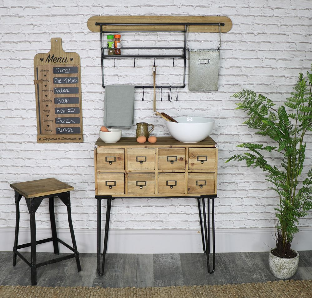 Industrial Inspired, Rustic Kitchen Furniture And Home Accessories!