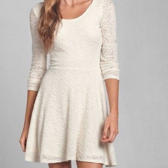Abercrombie Lace Skater Dress NWOT Never worn Abercrombie & Fitch Dresses Mini