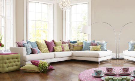Prestigious Textiles   Mezzo Fabric Collection   Large Cream Corner Sofa  With Wide Range Of Mezzo
