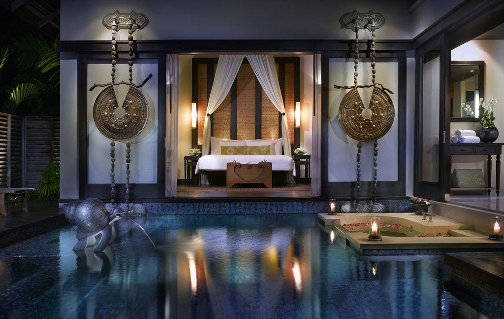Interior design online Luxury Thai Pool Villa at night | Story ...