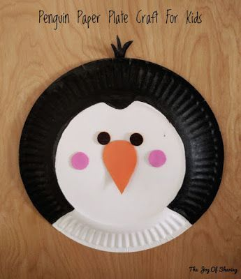 & Paper Plate Penguin Craft | Penguin craft Penguins and Easy