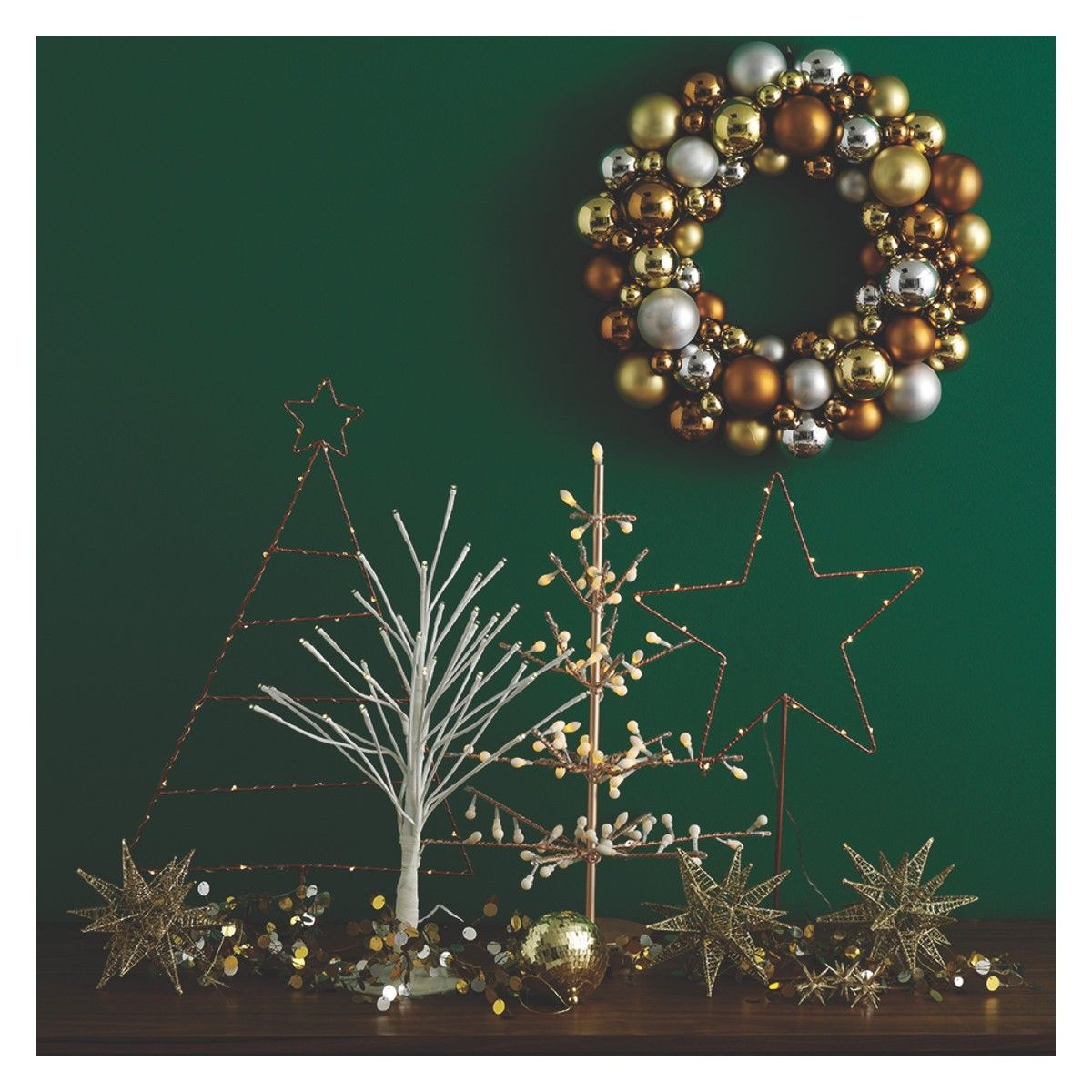 Habitat Christmas Trees: ANNGARSK Metallic Christmas Wreath