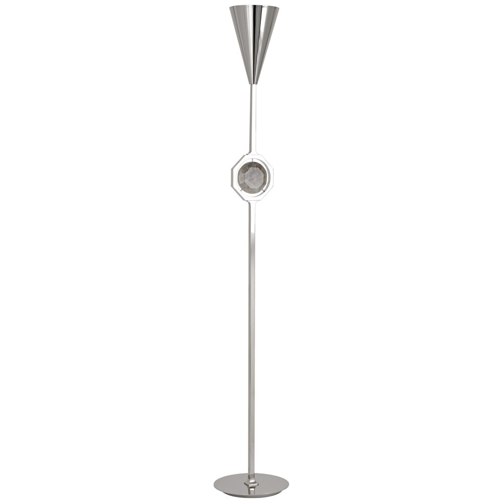 Robert abbey hope polished nickel torchiere floor lamp style