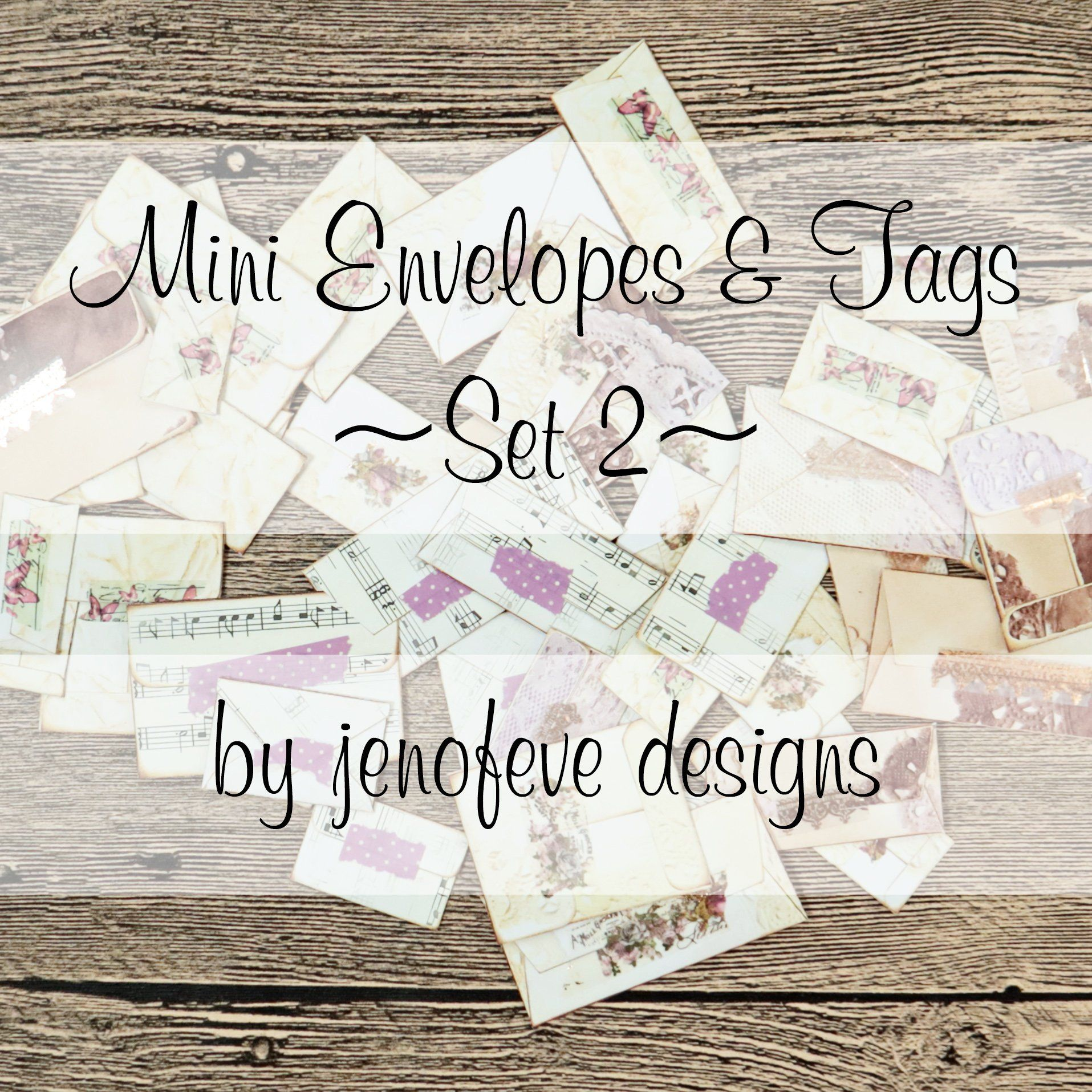Jenofevedesigns mini envelopes diy postcard envelope