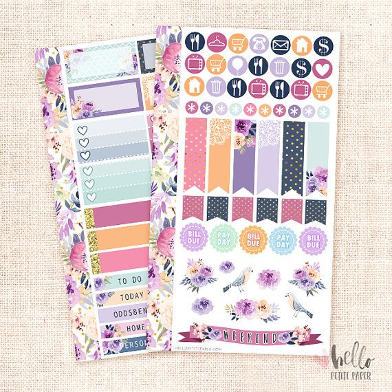 Melody - Personal planner sticker kit / Fall floral