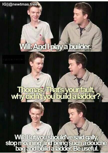 The Maze Runner Cast // Thomas Sangster // Will Poulter