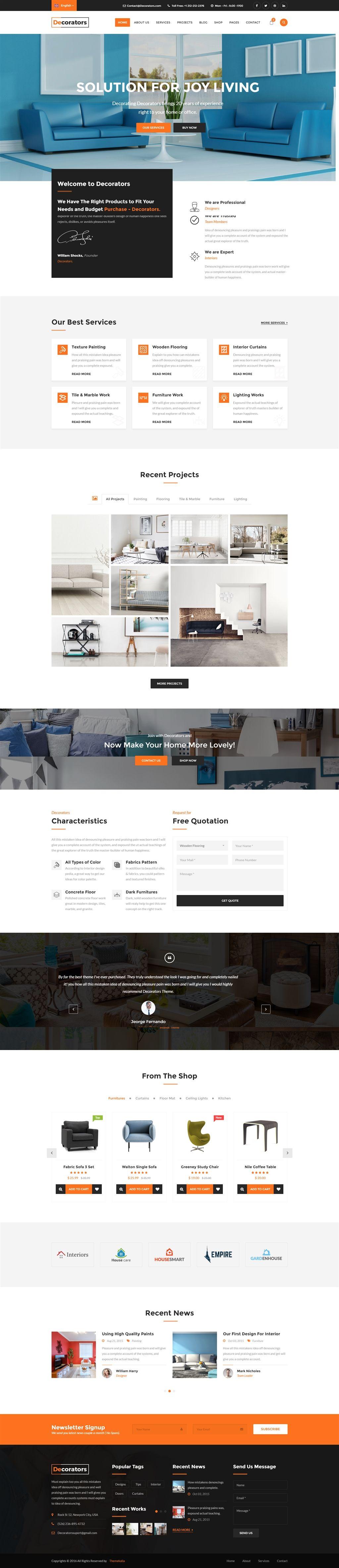 Decorators - HTML Template for Architecture & Modern Interior Design ...
