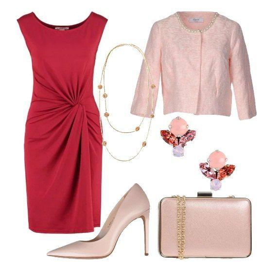Chic in rosso e rosa: outfit donna Chic per cerimonia | Bantoa