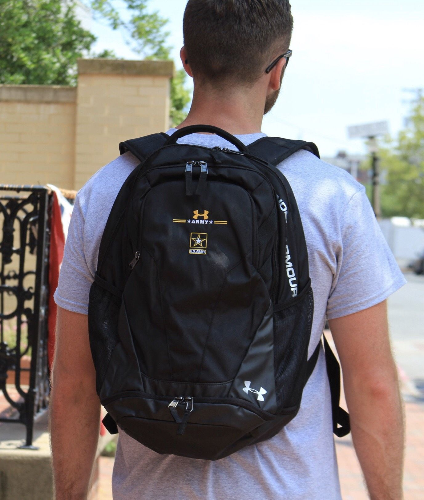 bc849ba1e1 The Army Under Armour Storm Hustle III Backpack in graphite is a great way  to wear your Army Pride!