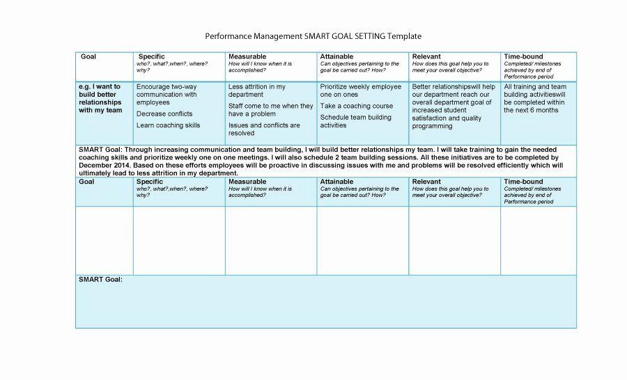 Employee Goal Setting Template Inspirational 48 Smart Goals Templates Examples Worksheets Template Lab Smart Goals Template Goals Template Smart Goals