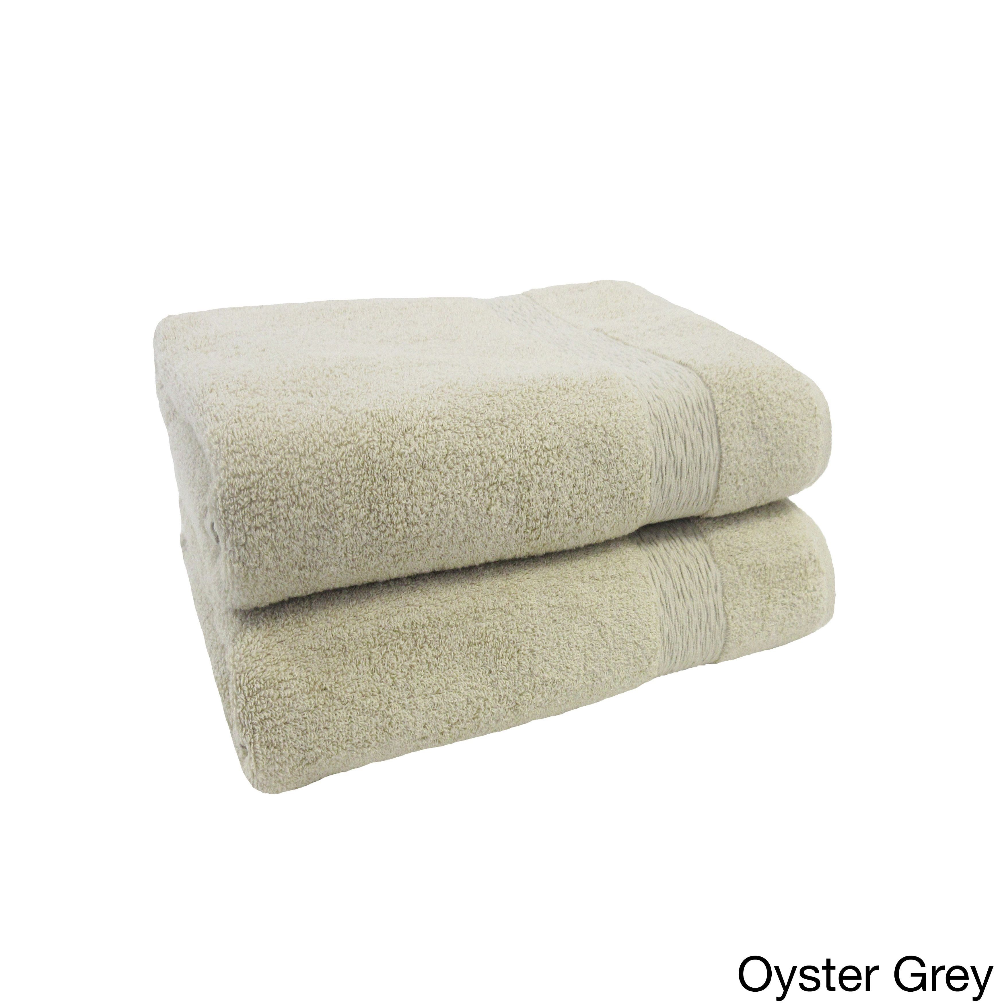 10bc7a43c71d Signature Collection Ringspun Bath Towel (set of 2) from Jessica Simpson  (Oyster Grey)