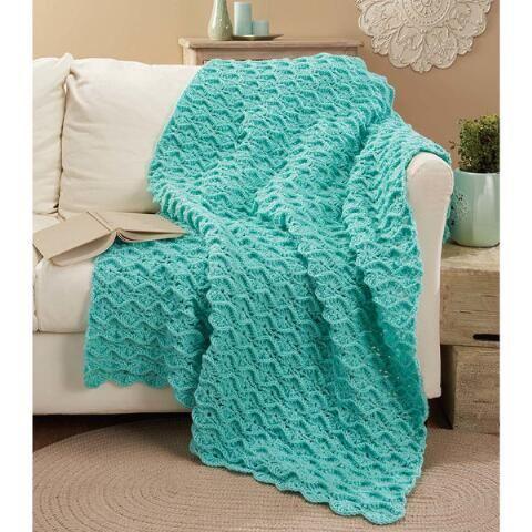 Herrschners® Bavarian Spheres Throw Crochet Afghan Kit