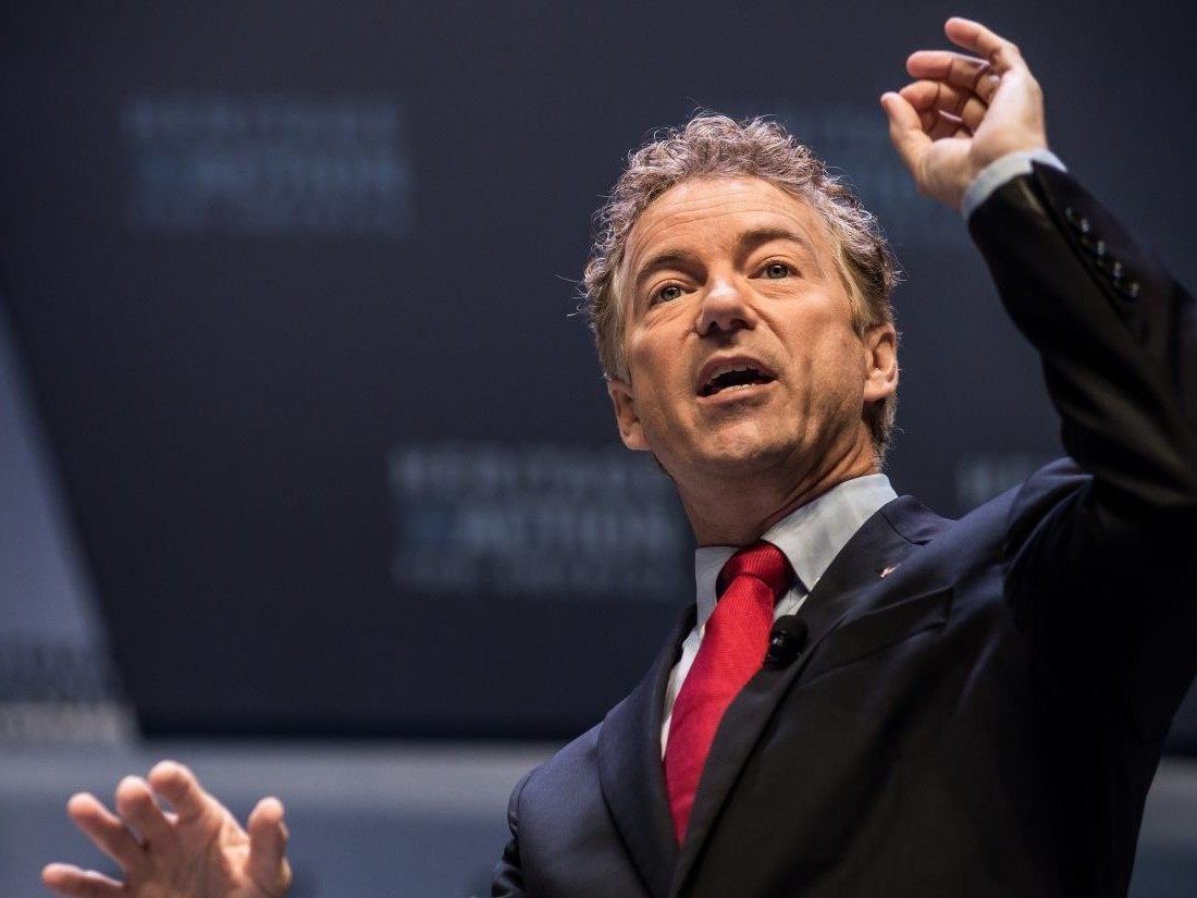 Sen. Rand Paul scored a victory in Saturday's Republican Liberty Caucus (RLC) straw poll.