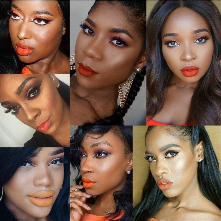 Orange Lipstick On Dark Skin Lipstick For Dark Skin Dark Skin
