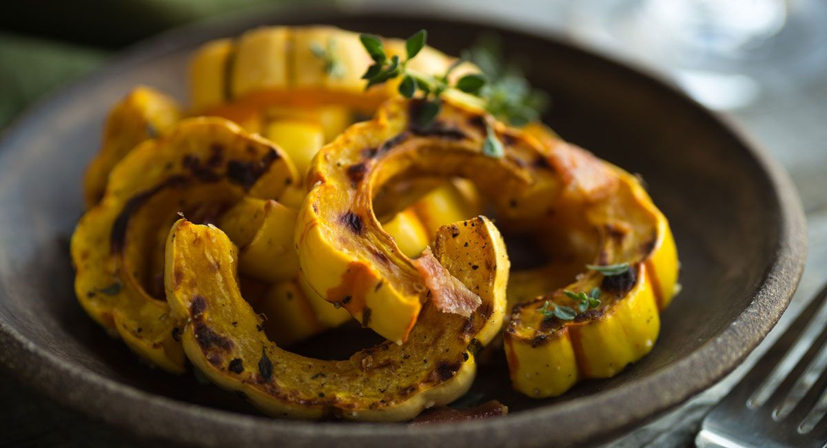 Try This Alternative To Traditional Holiday Side Dishes Food Recipes Delicata Squash Recipe Acorn Squash