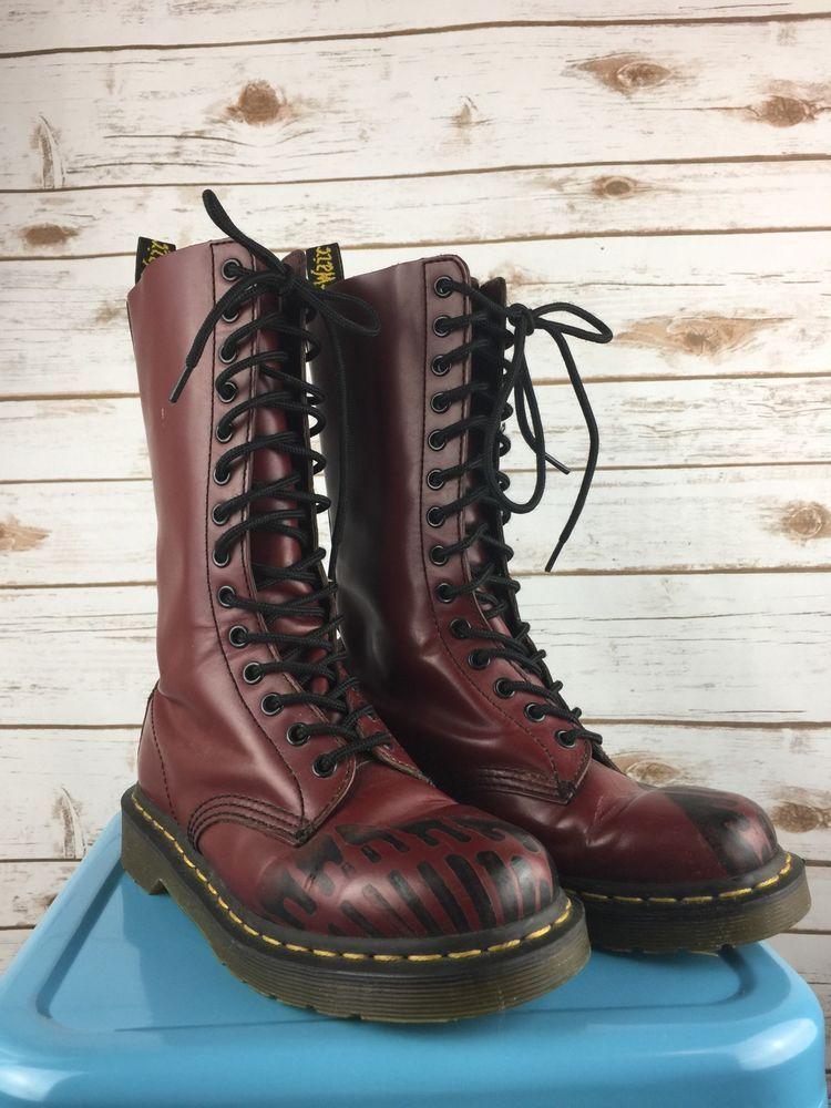 Rabatt 100% authentifiziert offizielle Bilder Doc Dr Martens Oxblood Footprint Boots Sales Sample Rare 14 ...