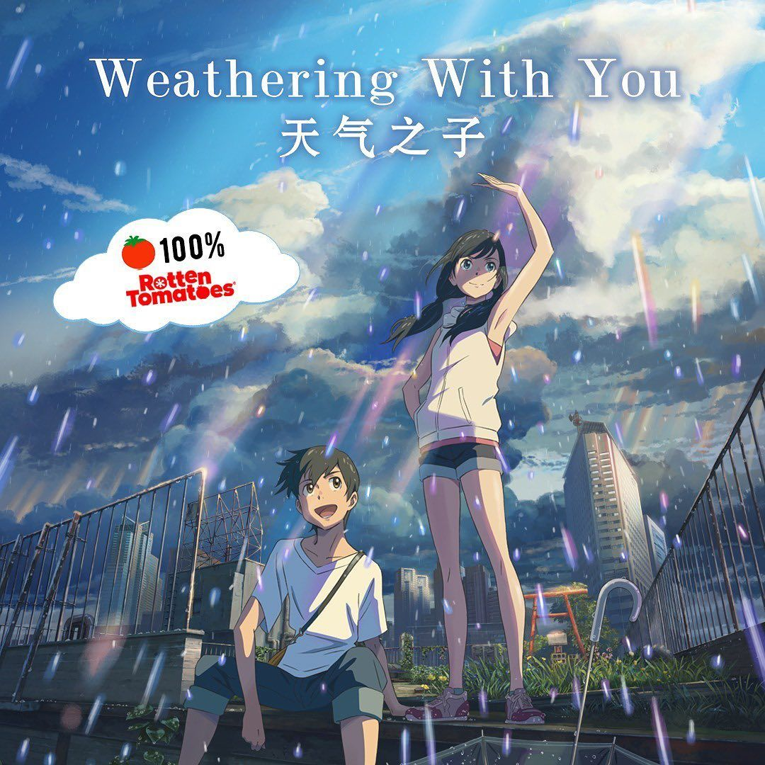 100%!!! Woohoo! Weathering With You has obtained a 100