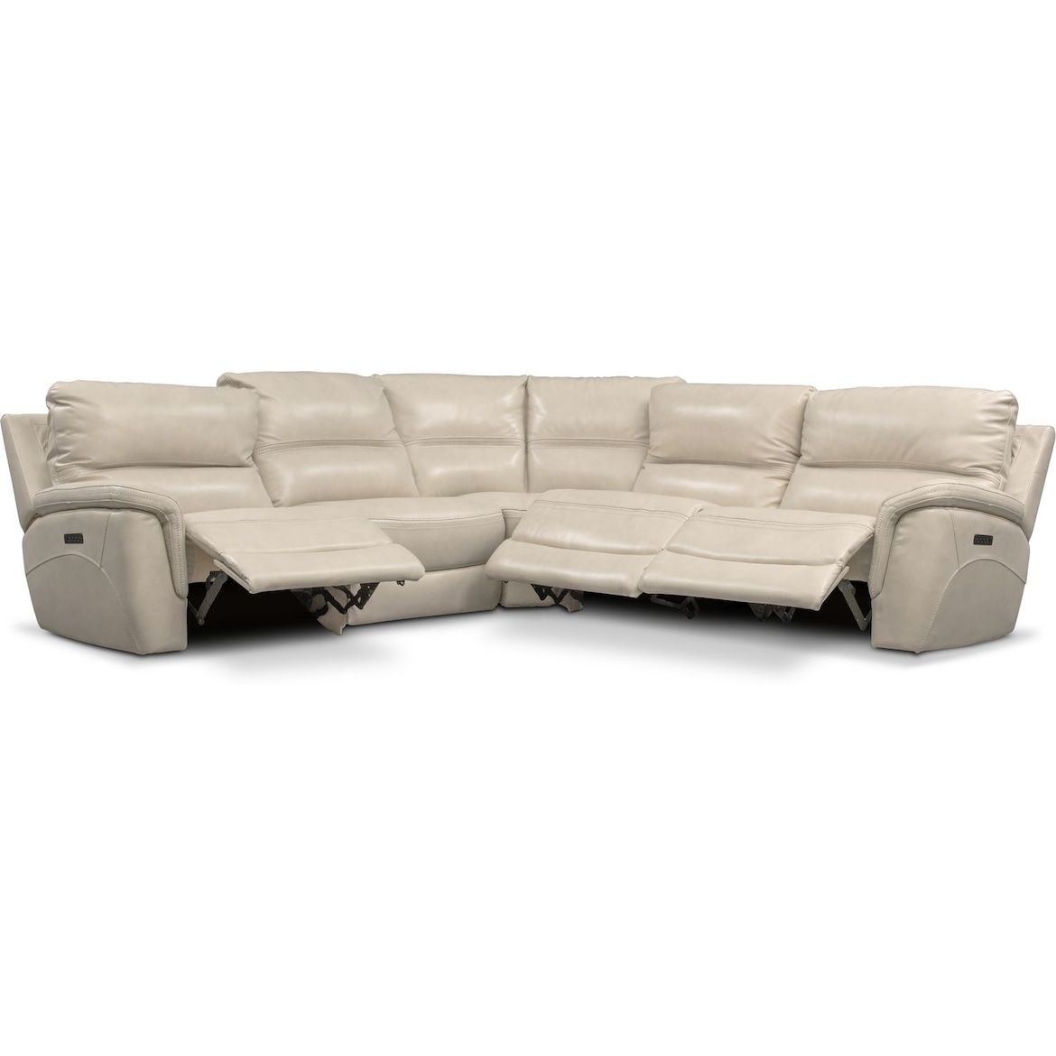 Avanti 5 Piece Triple Power Reclining Sectional With 3 Reclining Seats Value City Furniture And M Sectional Sofas Living Room Modern Sofa Sectional Furniture