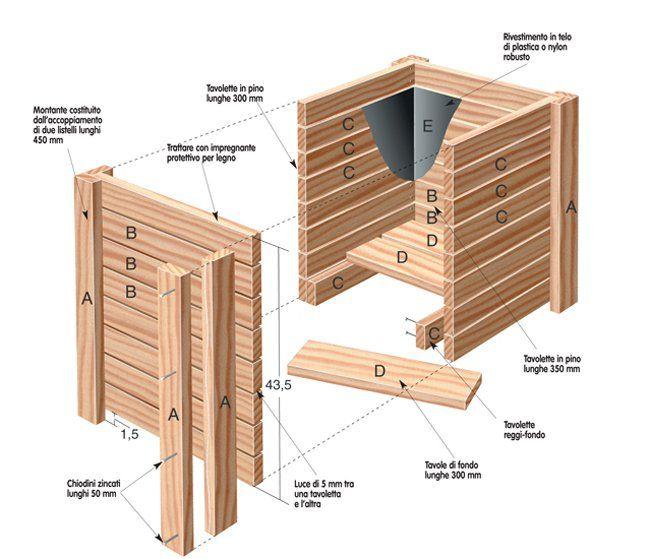 Fioriere in legno fioriere fioriera fioriere da esterno costruire fioriere in legno vasi in - Staccionate in legno per giardino ...