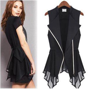 Ladies Cardigan Vest Sleeveless V-neck Female Top Cotton Zipper ...
