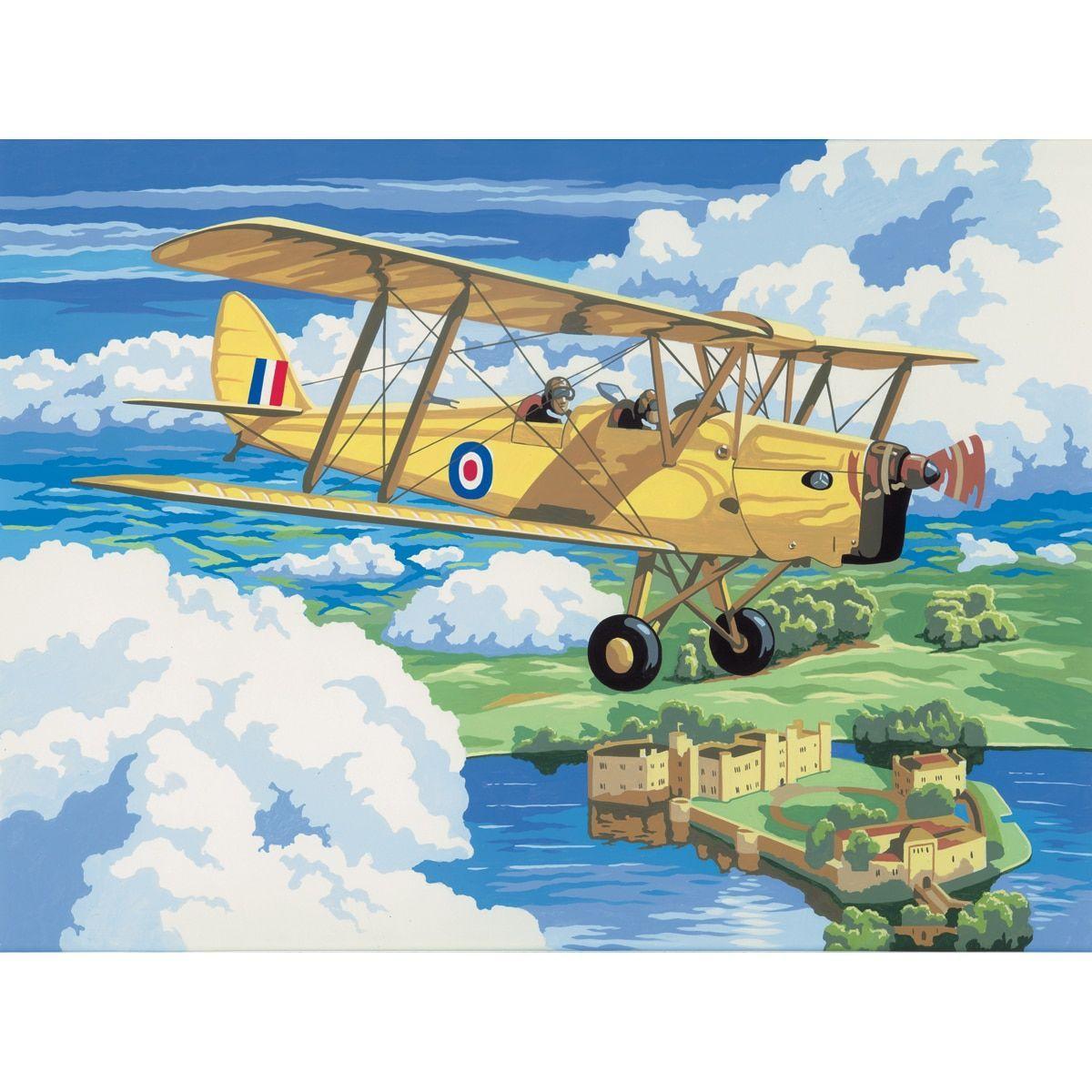 "Royal Brush Paint By Number Kit 15.375""X11.25""-Nostalgic Plane"