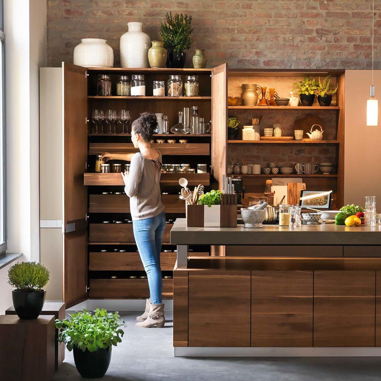 Kochinsel k7 mit Laden aus Naturholz | Home | Pinterest | Solid wood ...