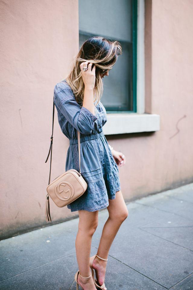For All Things Lovely: Eyelet Gray Dress | Charleston, SC