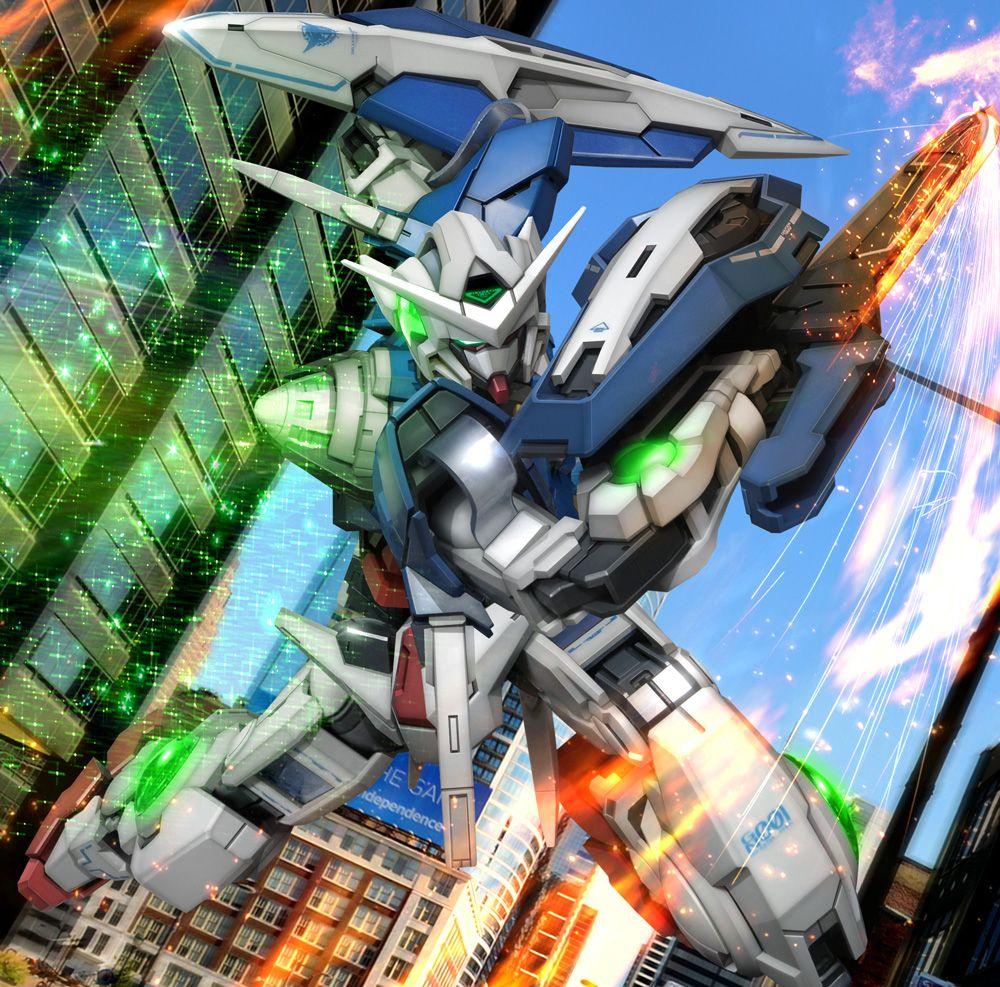 Gundam Iphone Wallpaper: Tags: Mobile Suit Gundam 00, 3D, GN-001 Gundam Exia
