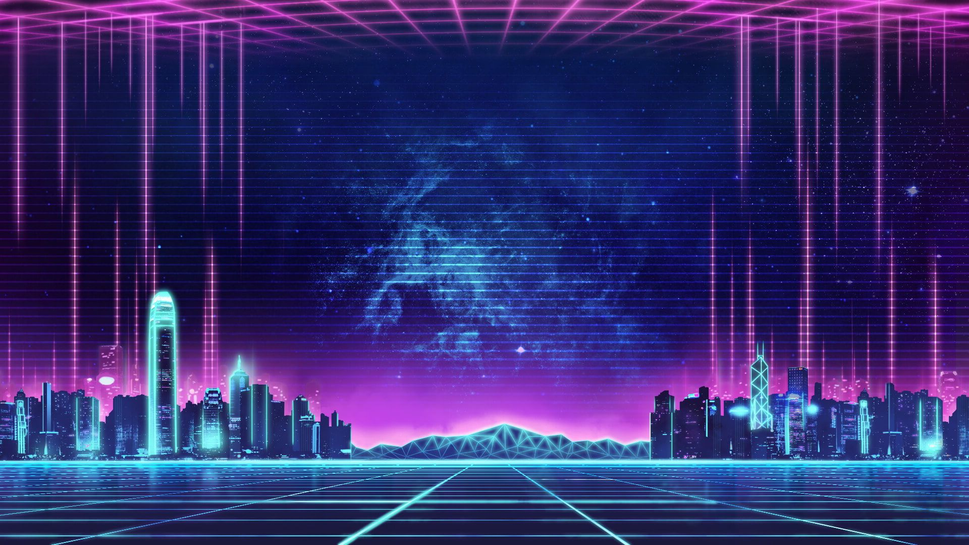 Wallpaper Synthwave Music Retro Neon City Others Architecture Built Structure Vaporwave Wallpaper Neon Wallpaper City Wallpaper