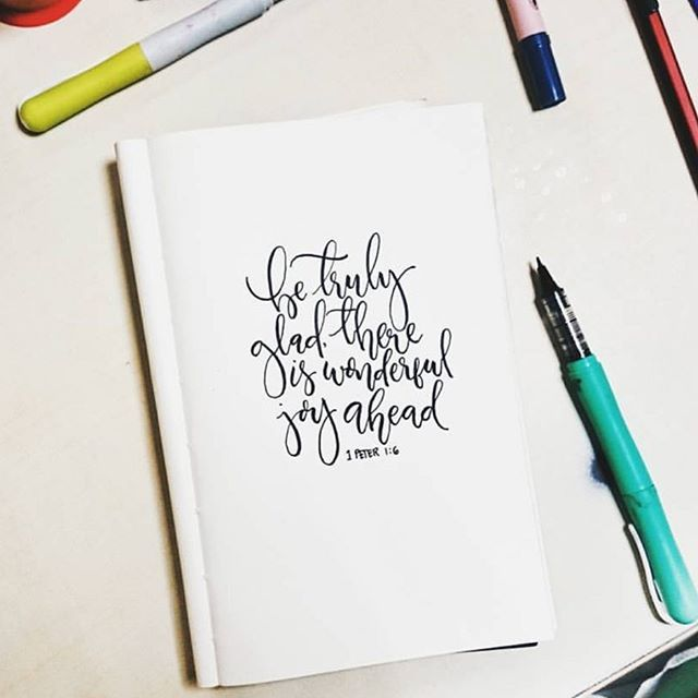 Always be glad Thank you @sarcesticmai for sharing this nice work using Zig Kuretake Cocoiro Letter Pen