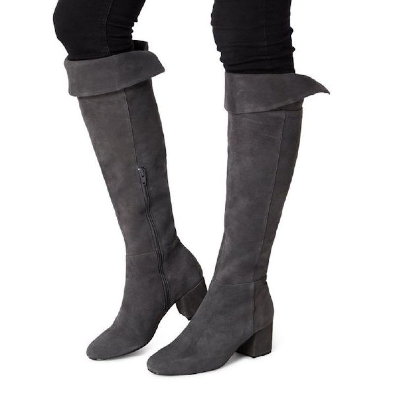 9f6fd284e38 Knee High Heeled Boots. Gorgeous suede knee high boots with block heel.  Available 3 colours.  Worldwide Shipping